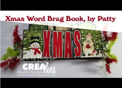 Crealies Xmas Word Brag Book, by Patty