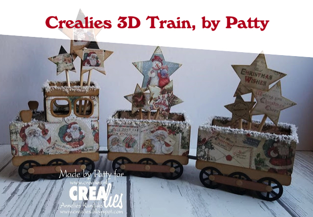 Crealies 3D Train, by Patty
