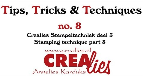 Crealies TTT no. 8:  Stamping technique part 3
