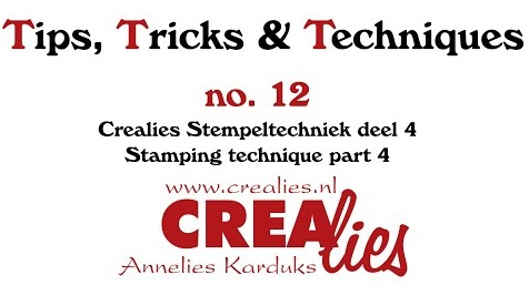 Crealies TTT no. 12: Stamping technique part 4