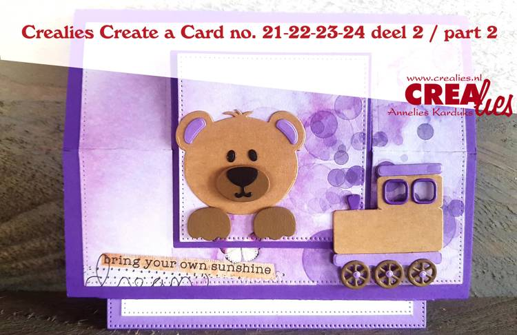 Crealies Create a Card dies no. 21-22-23-24 deel 2