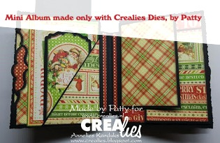 Crealies Mini Album made with Crea-Nest-Lies XXL no. 95, by Patty