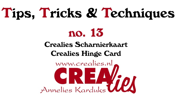Crealies Tips, Tricks & Techniques no. 13: Crealies Hinge Card
