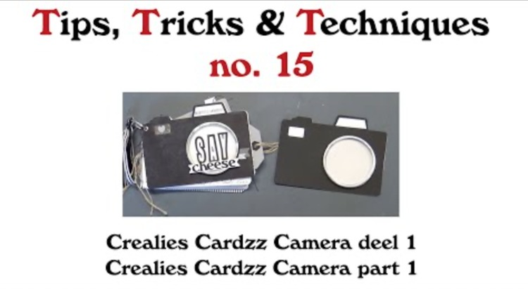Crealies TTT no. 15: Crealies Cardzz Camera part 1