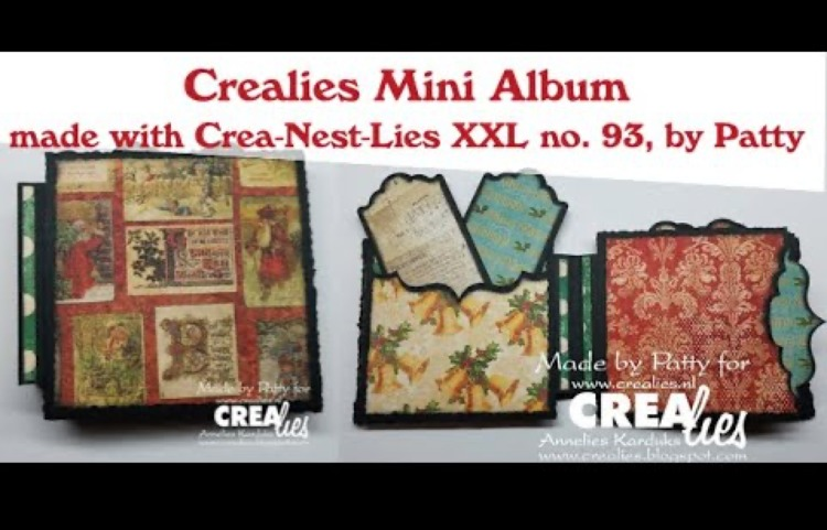 Crealies Mini album made with Crea-Nest-Lies XXL no. 93, by Patty