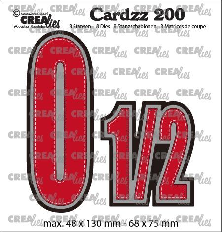 Cardzz dies no. 200, Numbers 0 en 1/2