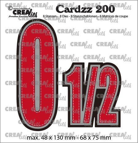 Cardzz dies no. 200, Numbers 0 and 1/2