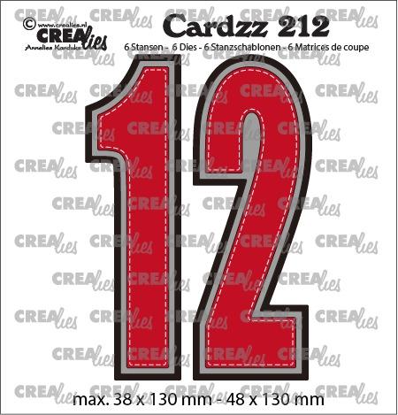 Cardzz stansen no. 212, Cijfers 1 en 2