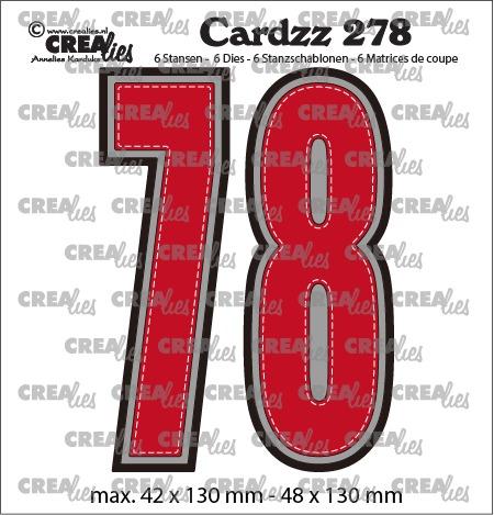 Cardzz stansen no. 278, Cijfers 7 en 8