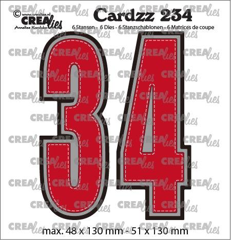 Cardzz stansen no. 234, Cijfers 3 en 4