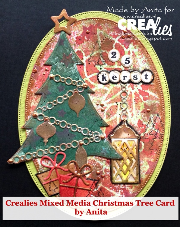 Crealies Mixed Christmas tree by Anita