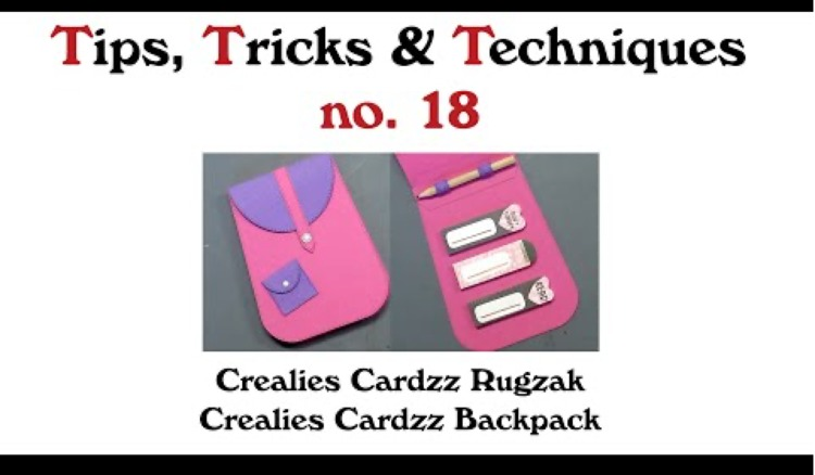 Crealies TTT no. 18: Crealies Cardzz Backpack