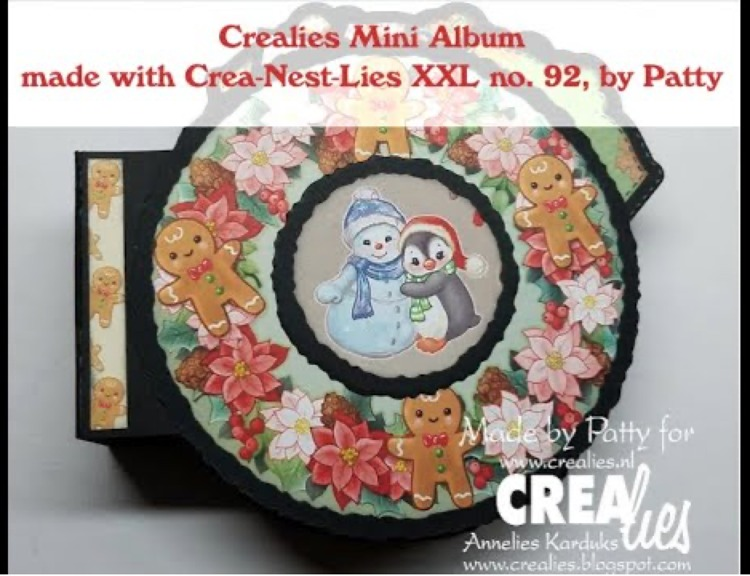Crealies Mini album made with Crea-Nest-Lies XXL no. 92, by Patty