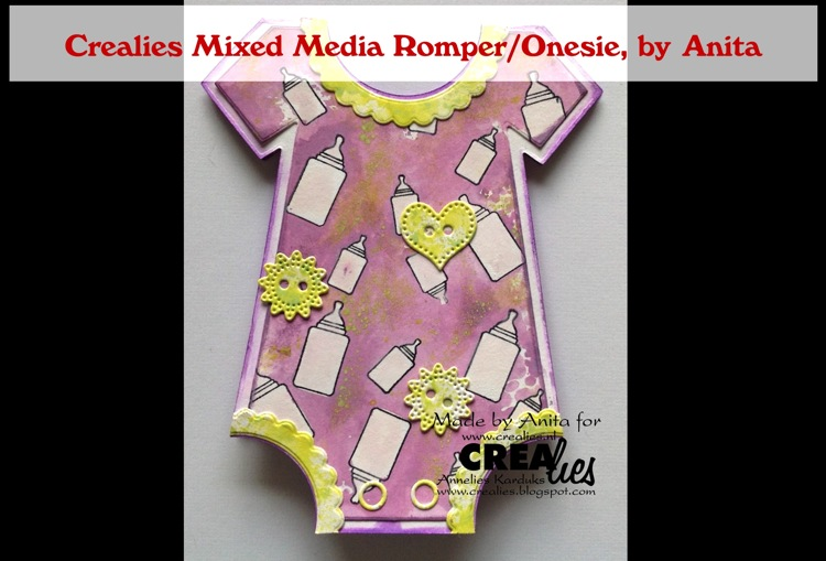 Crealies Mixed Media Onesie , by Anita