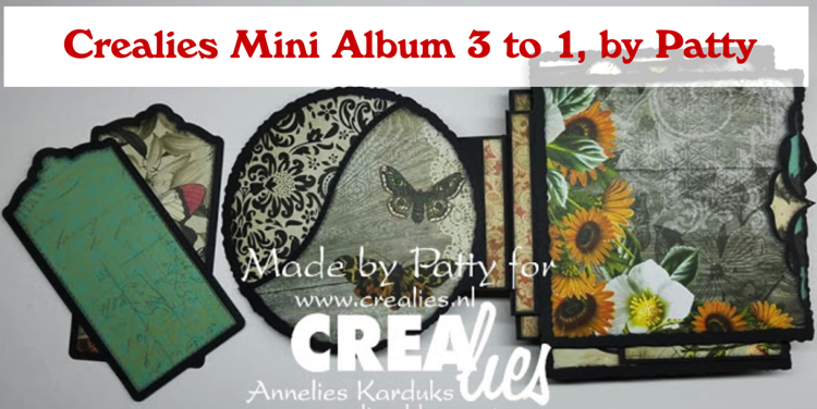 Crealies Mini Album 3 to1, by Patty