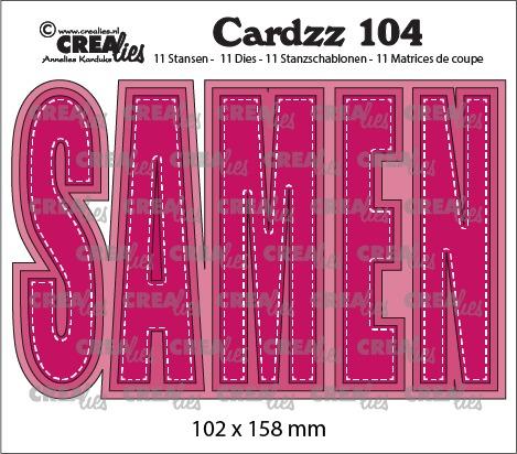 Cardzz stansen no. 104, SAMEN (kaartformaat)
