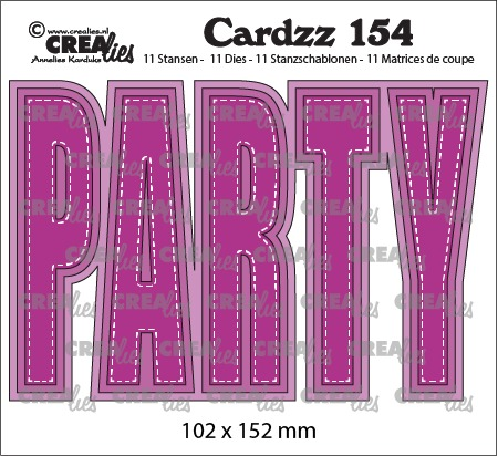 Cardzz stansen no. 154, PARTY (kaartformaat)
