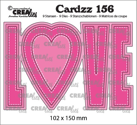 Cardzz stansen no. 156, LOVE (kaartformaat)
