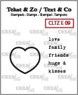 Tekst & Zo English stamps no. 9, Hartstempel + Engelse tekst