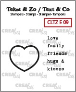 Text & Co English stamps no. 9, Heart stamp + English text