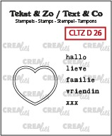 Tekst & Zo Dutch stamps no. 26, Heart stamp + Dutch text