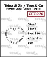 Tekst & Zo stempels, Diversen no. 26, Hartstempel + Nederlandse tekst