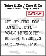 Tekst & Zo stempels, Woordstrips no. NL04: Hoera