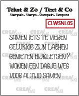 Tekst & Zo stamps, Word strips no. 5: Samen (Dutch)