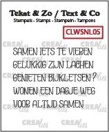 Tekst & Zo stempels, Woordstrips no. NL05: Samen