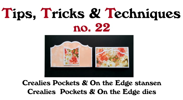 Crealies TTT no. 22: Crealies Pockets & On the Edge stansen