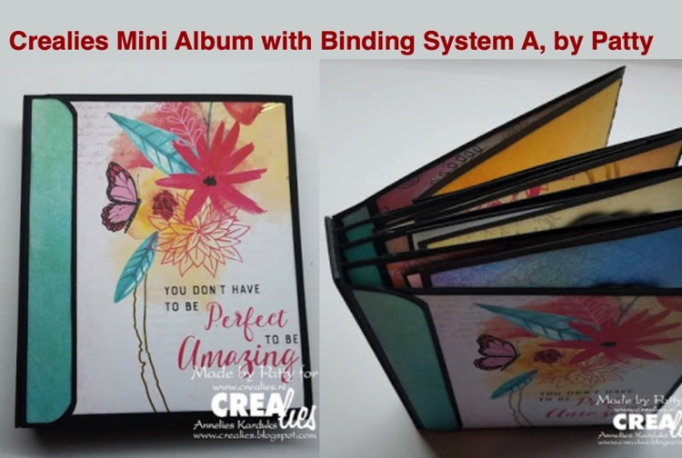 Crealies New Mini Albums Binding System A, by Patty