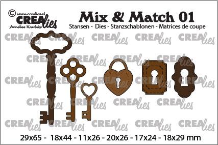 3x keys + 2x lock + 1x padlock