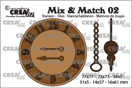 Mix & Match dies no. 02, Clock with chain and pendulum
