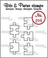 5x Puzzelstukjes (omlijning)