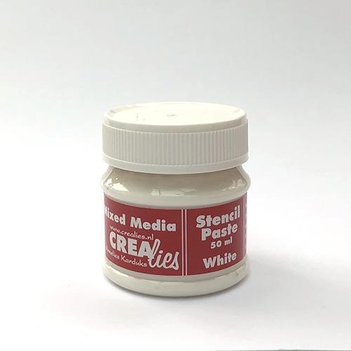 Stencil pasta wit, 50 ml