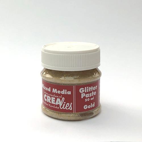 Glitter pasta goud, 50 ml