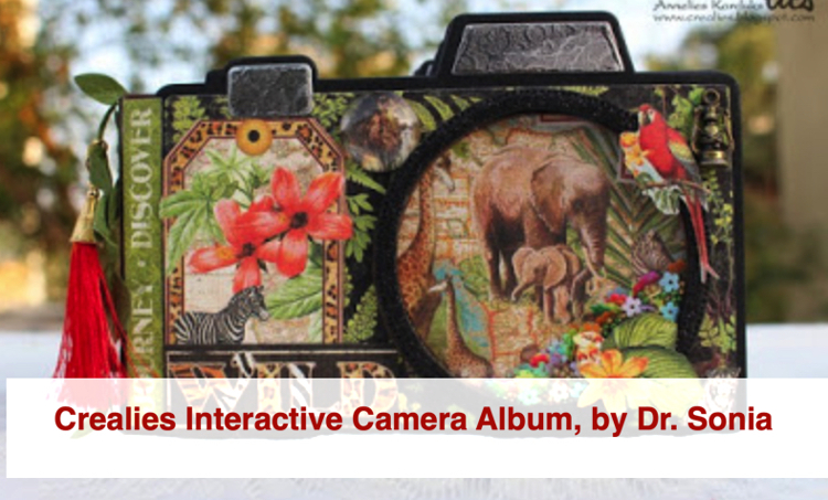 Crealies Interactive Camera Album by Dr Sonia S V