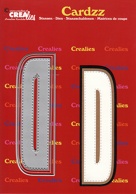 Cardzz die cutting no. 404, Letter D.