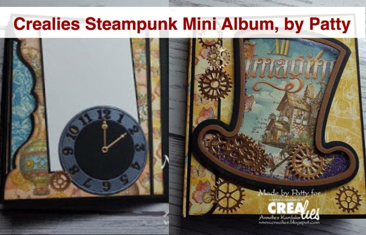 Crealies Steampunk Mini Album, by Patty