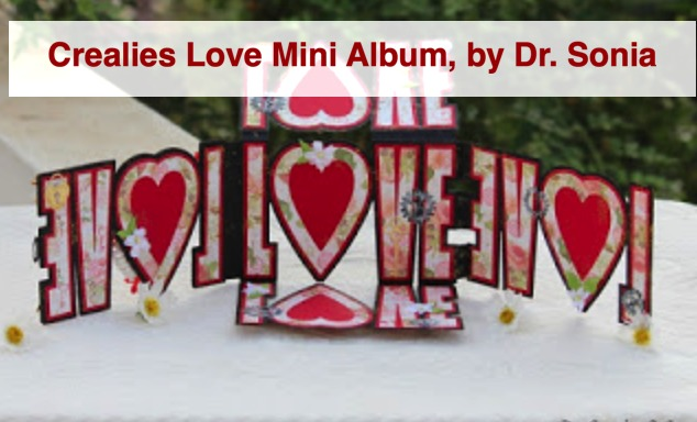 Crealies  Love Mini Album, by Dr Sonia S V
