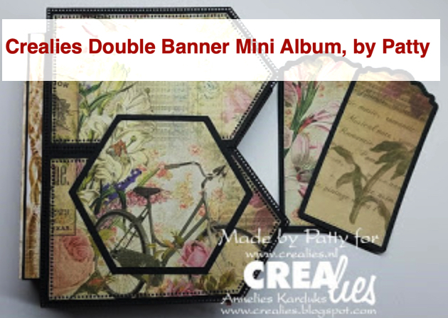 Crealies Double Banner Mini Album, by Patty