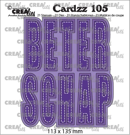 Cardzz dies no. 105, BETERSCHAP (cardsize, Dutch Cardzz die set)