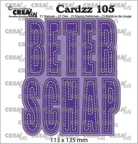 Cardzz stansen no. 105, BETERSCHAP (kaartformaat)