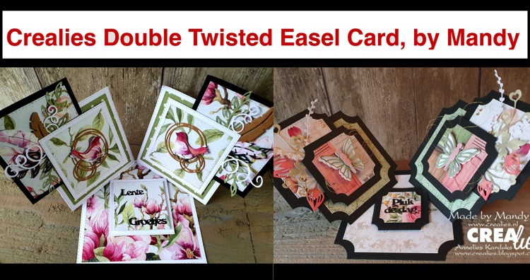 Crealies Double Twisted Easel Card, by Mandy
