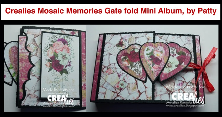 Crealies Mosaic Memories Gate Fold Mini Album, by Patty