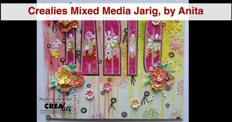 Crealies Mixed Media Jarig, by Anita