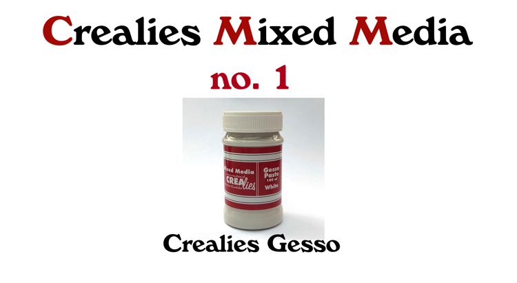 Crealies Mixed Media  no. 1 : Gesso