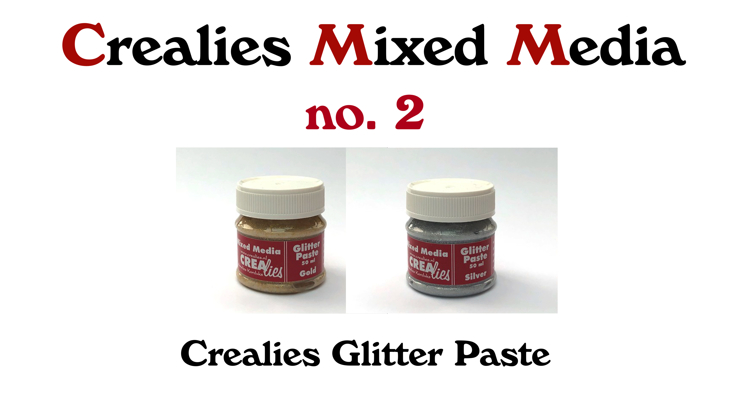 Crealies Mixed Media  no. 2: Glitter Paste