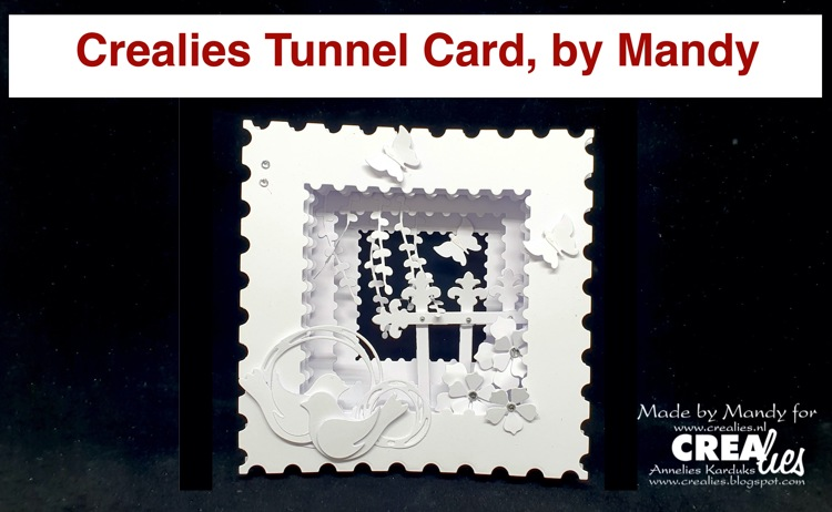 Crealies Tunnel Card, by Mandy