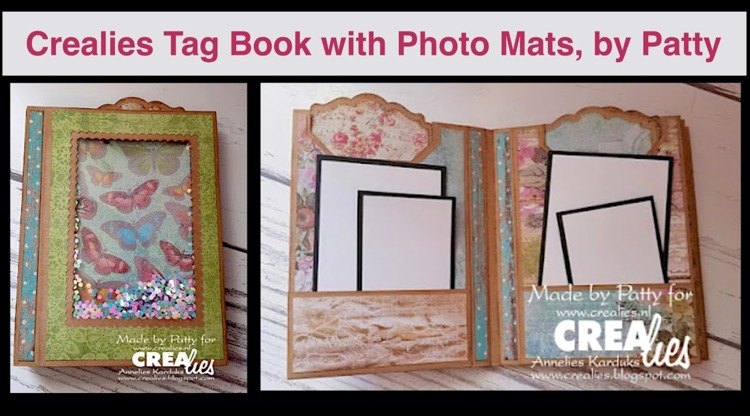 Crealies Tag Book with Photo Mats, by Patty